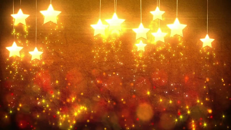 Star Decorations Loop: Stock Motion Graphics