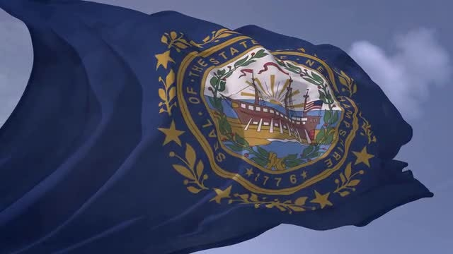 New Hampshire Flag: Stock Motion Graphics