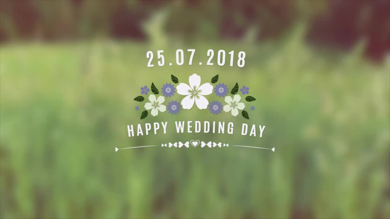 Romantic Flower Label - After Effects 84400