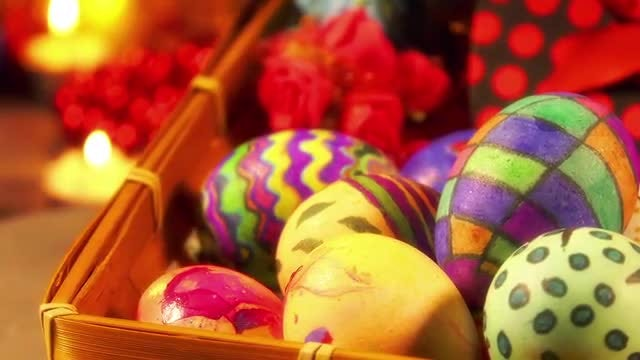 Colorful Easter Paschal Eggs : Stock Video