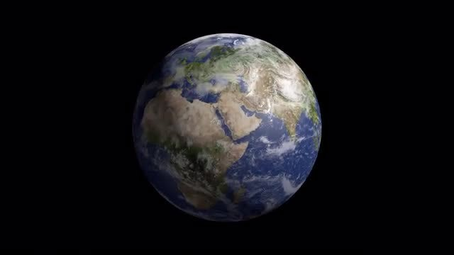 Realistic Planet Earth : Stock Motion Graphics