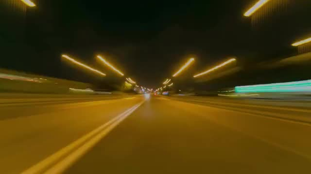 Time Lapse Of City Drive: Stock Video
