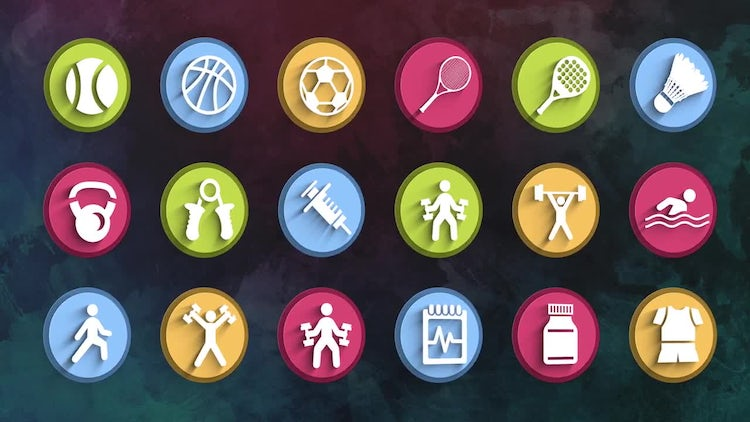 Ultimate Fitness Icons Pack: Stock Motion Graphics
