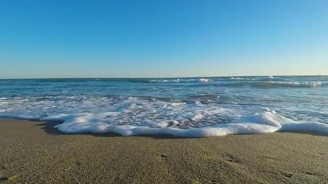 Waves Washing Up On Beach: Stock Video