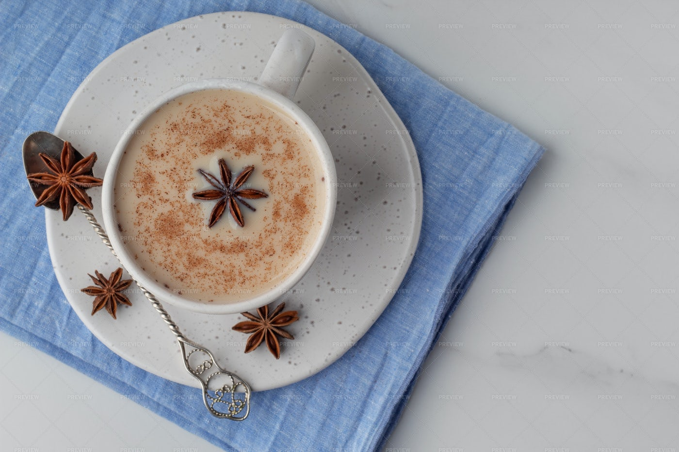 Indian Spiced Masala Tea: Stock Photos