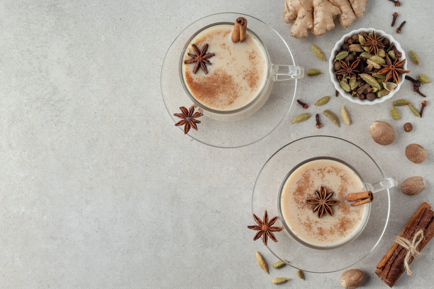 Indian Masala Chai Tea: Stock Photos
