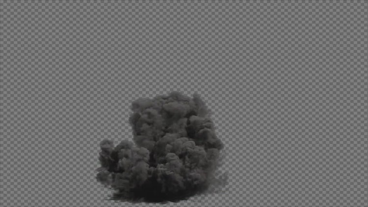 Transparent Blast Explosion : Stock Motion Graphics