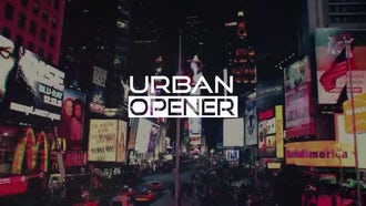 Urban Glitch Opener: After Effects Templates