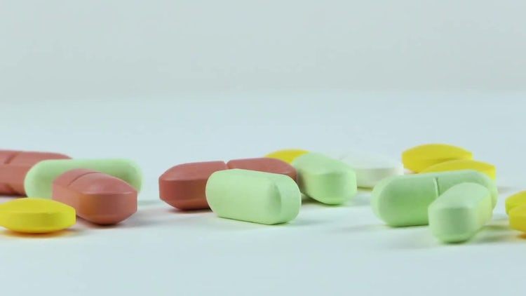 Closeup Of Pills And Tablets : Stock Video