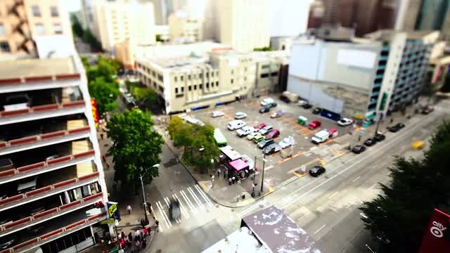 Downtown Seattle Intersection Time Lapse : Stock Video