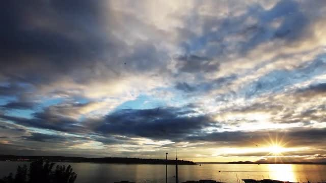 Seattle Sunset Sky: Stock Video