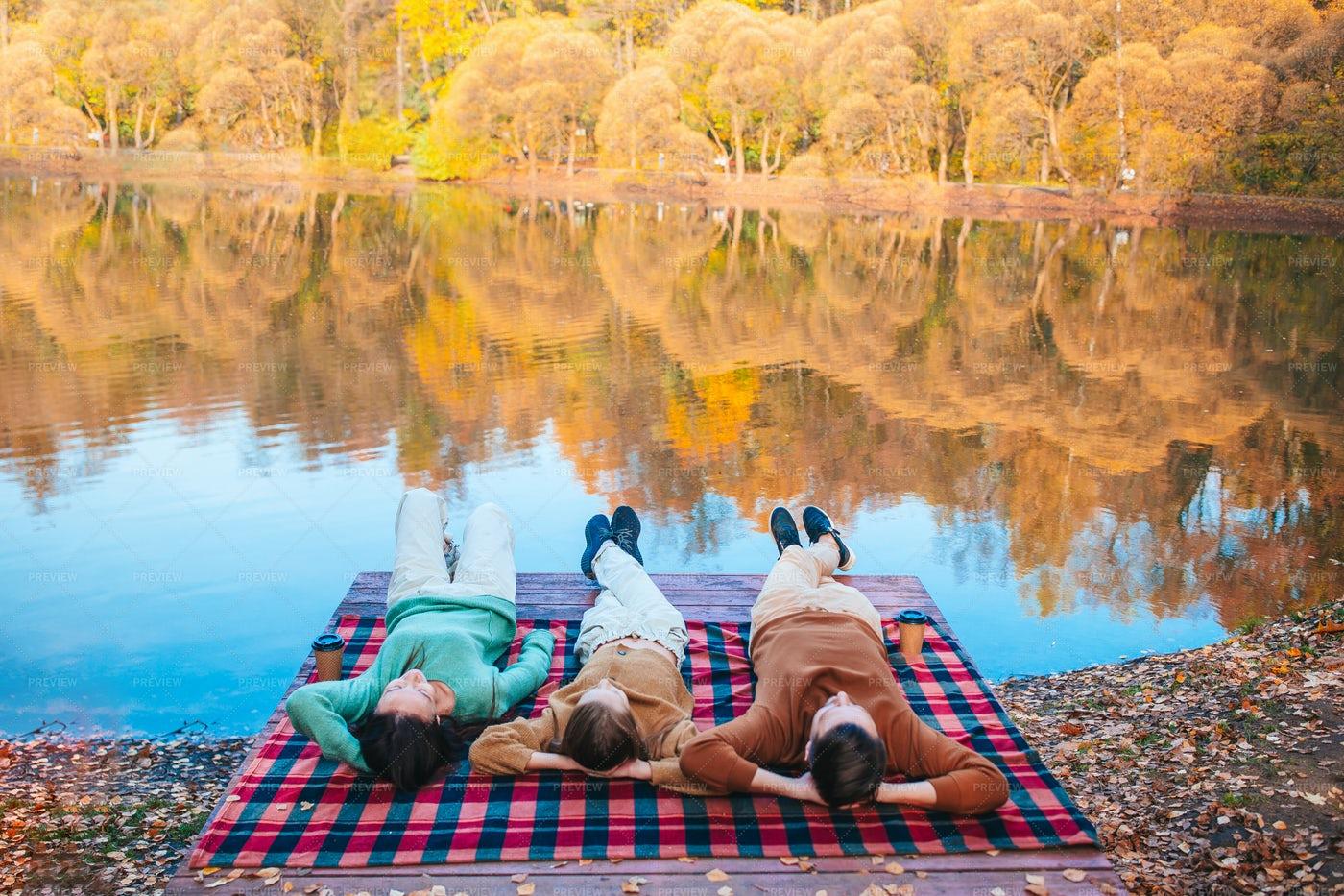 Family On Autumn Warm Day: Stock Photos
