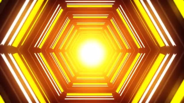 Hexagon Disco LED VJ: Stock Motion Graphics
