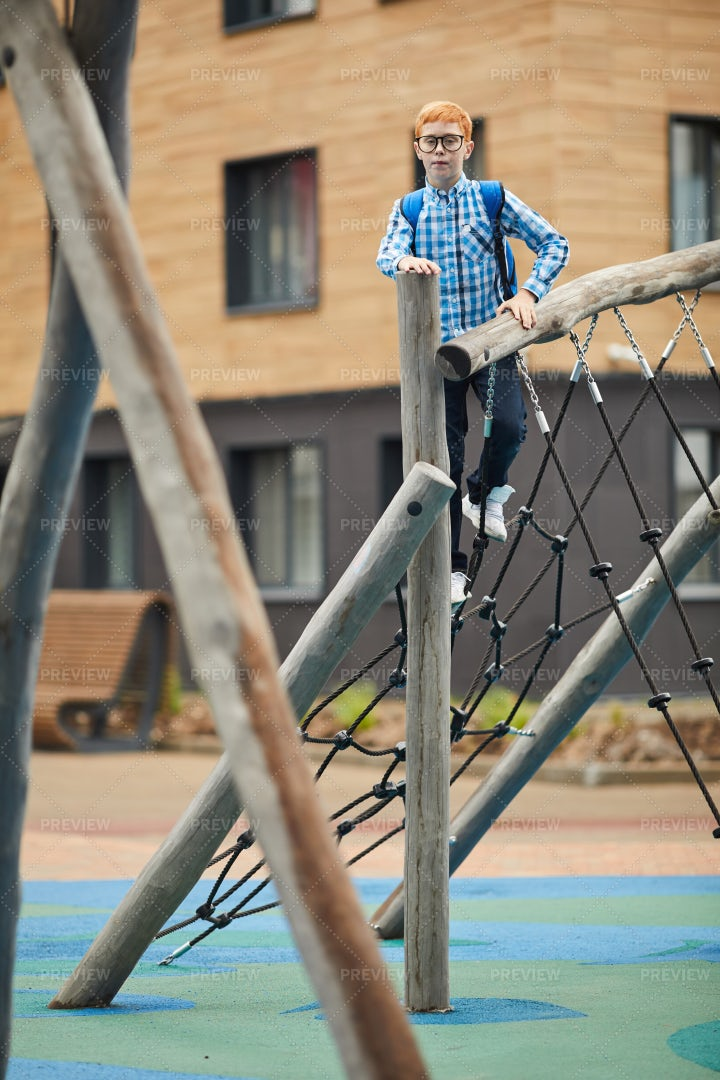 Playing On The Schoolyard: Stock Photos