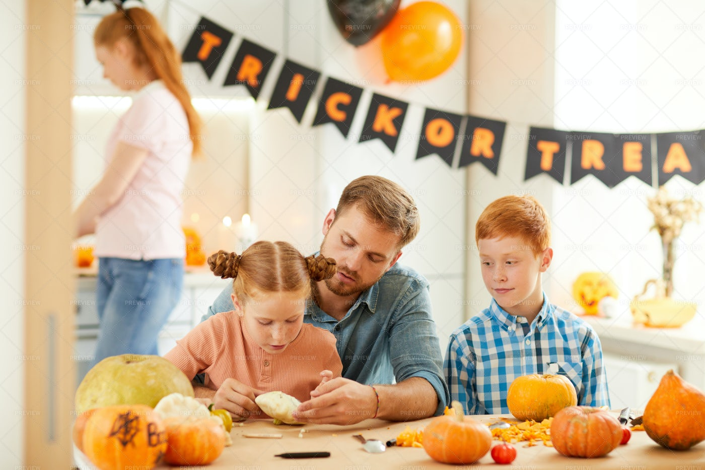 Happy Family Working Together: Stock Photos