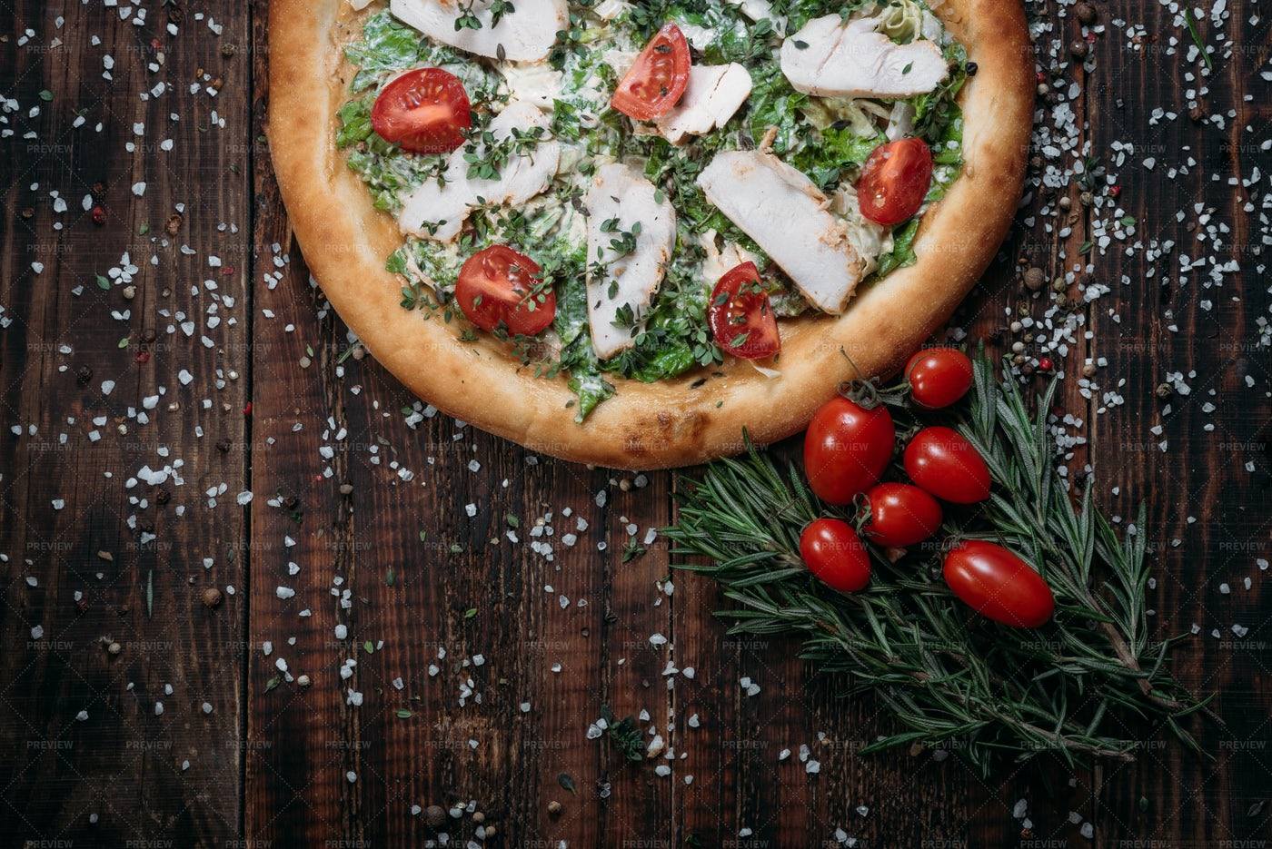 Tasty Chicken Pizza: Stock Photos