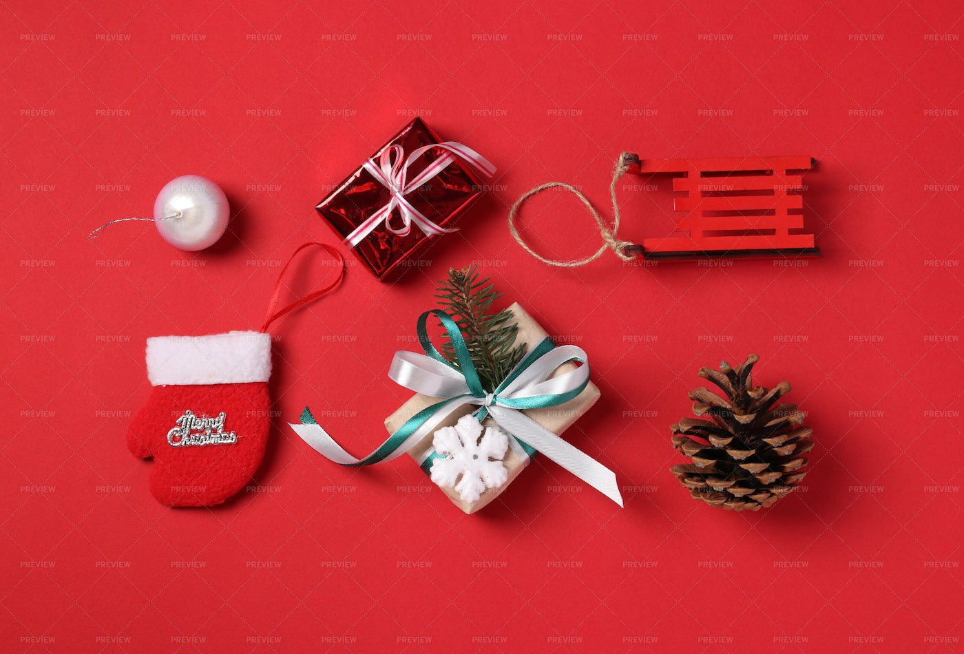 Red Holiday Gifts: Stock Photos