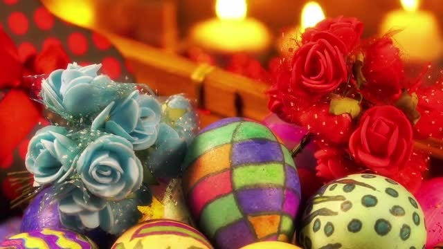 Easter Paschal Decor And Lights: Stock Video