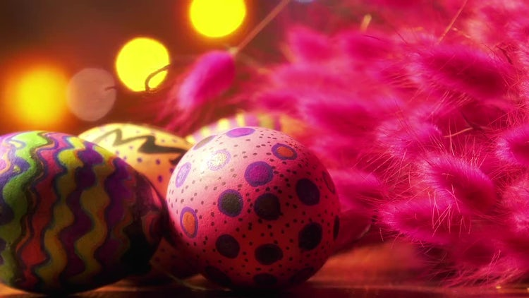Easter Paschal Eggs Decor Pack: Stock Video