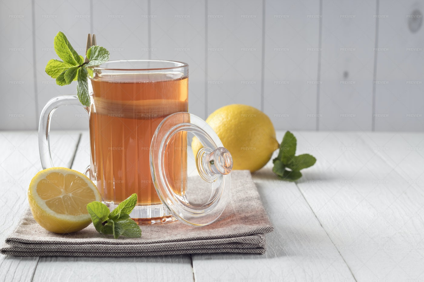 Fermented Kombucha Probiotic Drink: Stock Photos