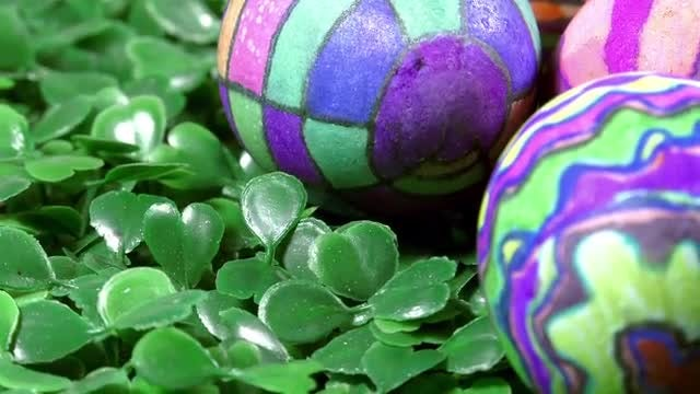 Colorful Easter Paschal Eggs Rotating: Stock Video