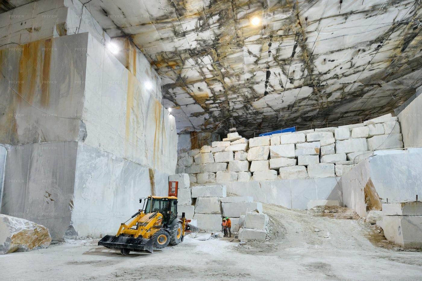 Inside A Marble Quarry: Stock Photos