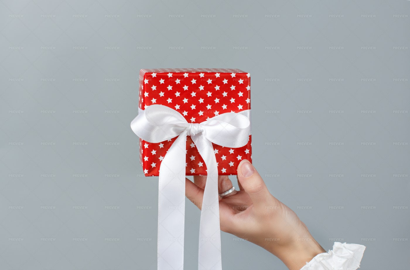 Holding Wrapped Gift Box: Stock Photos