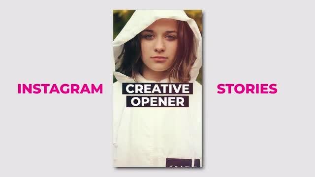 Modern Intagram Opener: Premiere Pro Templates
