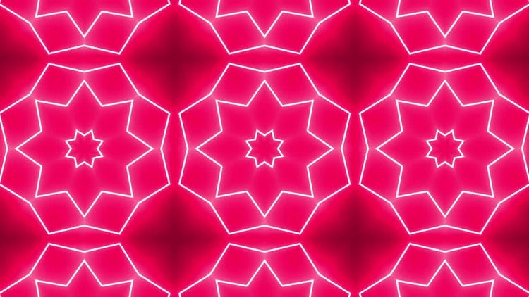 Red Psychedelic Kaleidoscope: Stock Motion Graphics
