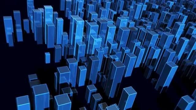 Blocks World Map: Stock Motion Graphics