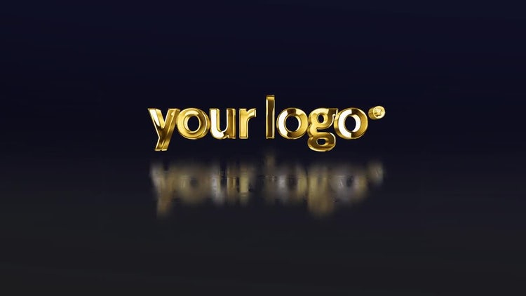 Simple 3D Gold Logo: After Effects Templates