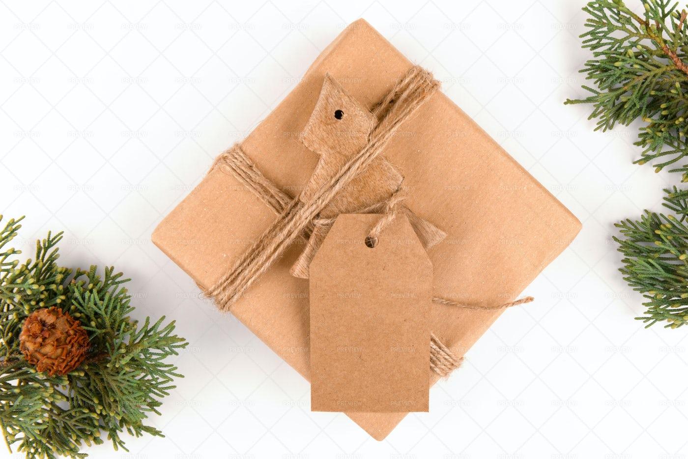 Christmas Gift Flat Lay: Stock Photos