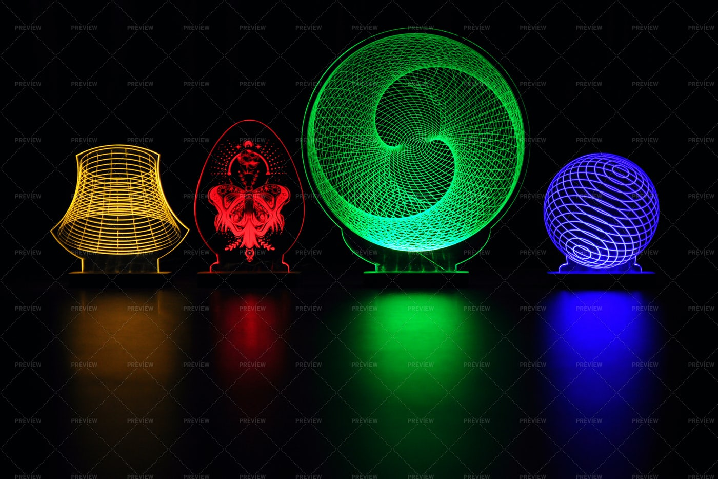 Handmade Decorative Lamps: Stock Photos