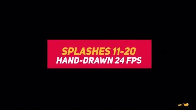 Liquid Elements 2 Splashes 11-20: Stock Motion Graphics