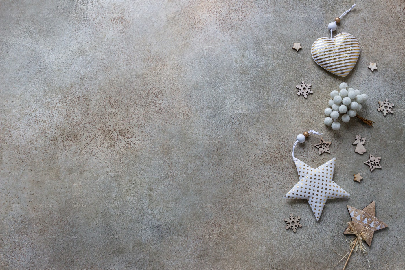 Eco-Friendly Christmas Decorations: Stock Photos