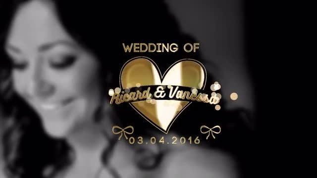 Gold Wedding Title After Effects Templates Motion Array