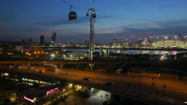 Aerial View Of Greenwich Peninsula : Stock Video