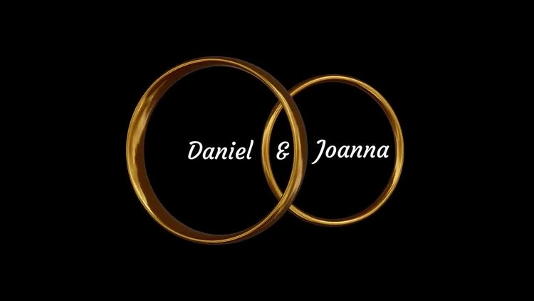 Rotating Wedding Rings: After Effects Templates