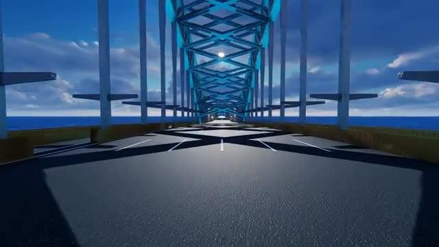 Driving Through The Bridge: Stock Motion Graphics