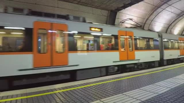 Train Leaving Underground Station: Stock Video