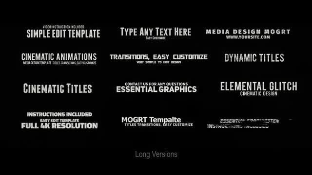 24 Glitch Titles: Motion Graphics Templates