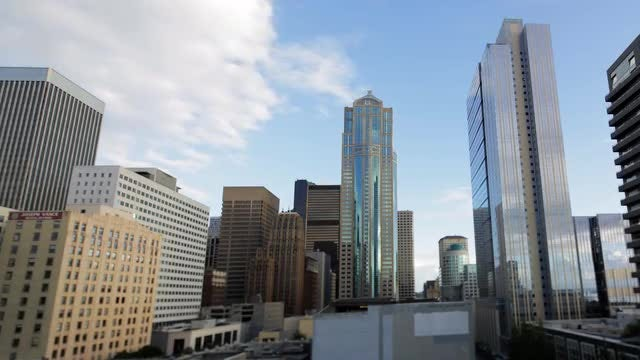 Time Lapse Of  Seattle Skyscrapers: Stock Video