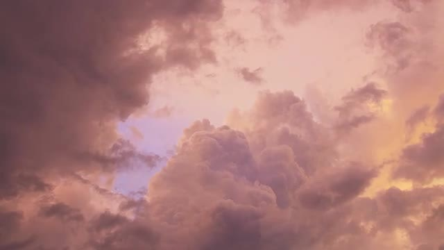 Storm Clouds In Sunset: Stock Video