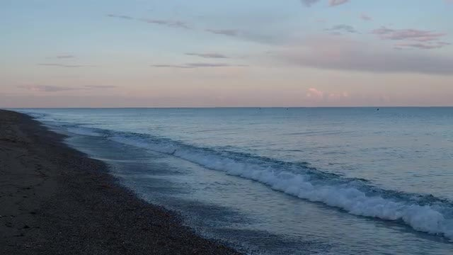 Empty Beach At Sunset: Stock Video
