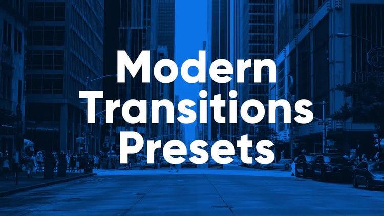 Modern Presets: Premiere Pro Presets