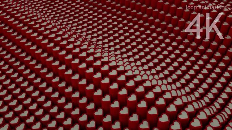 Heart Loop Backround: Stock Motion Graphics