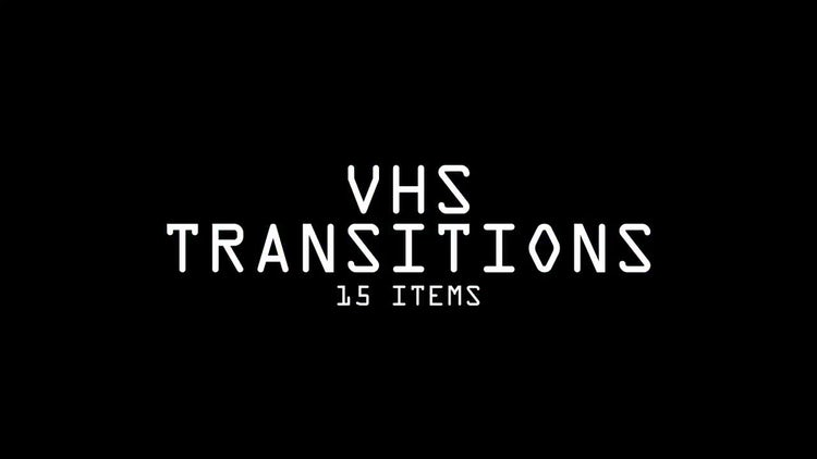 VHS Transitions Pack: Stock Motion Graphics