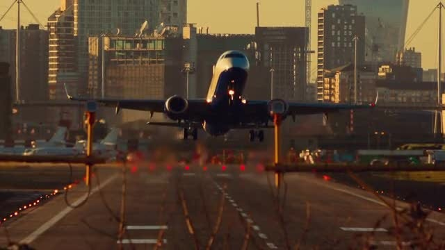 Large Commercial Airliner Taking Off : Stock Video
