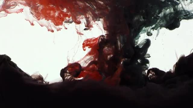 Abstract Colorful Ink Spread 6: Stock Video