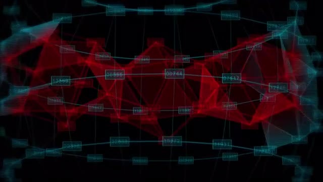 Data Network Background: Stock Motion Graphics